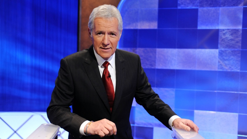 Game show host Alex Trebek poses on the set of 'Jeopardy!' on April 17, 2010 in Culver City, Calif. (Amanda Edwards/Getty Images/CNN)