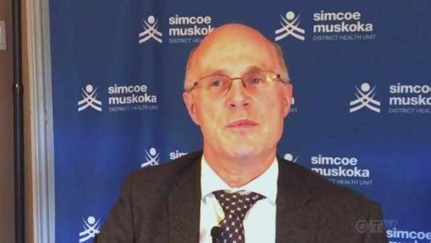 Dr.Charles Gardner, Simcoe Muskoka District Health Unit's medical officer of health holds a Facebook live update on the COVID-19 situation across the region on Tues., Jan. 5, 2020.