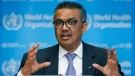 In this Monday, March 9, 2020 file photo, Tedros Adhanom Ghebreyesus, Director General of the World Health Organization speaks during a news conference, at the WHO headquarters in Geneva, Switzerland.  (Salvatore Di Nolfi/Keystone via AP, file)