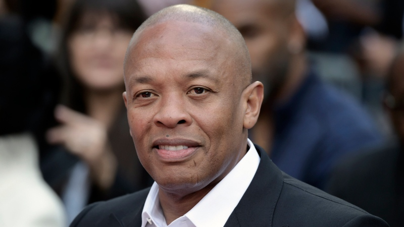 Dr. Dre attends a hand and footprint ceremony honoring Quincy Jones on Nov. 27, 2018, in Los Angeles. (Photo by Richard Shotwell/Invision/AP, File)