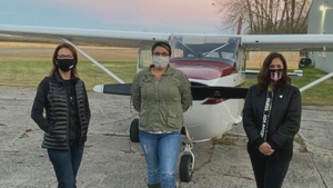 For the first time in the 30-year history of the First Nations Technical Institute's aviation program, a flight training crew is all female.