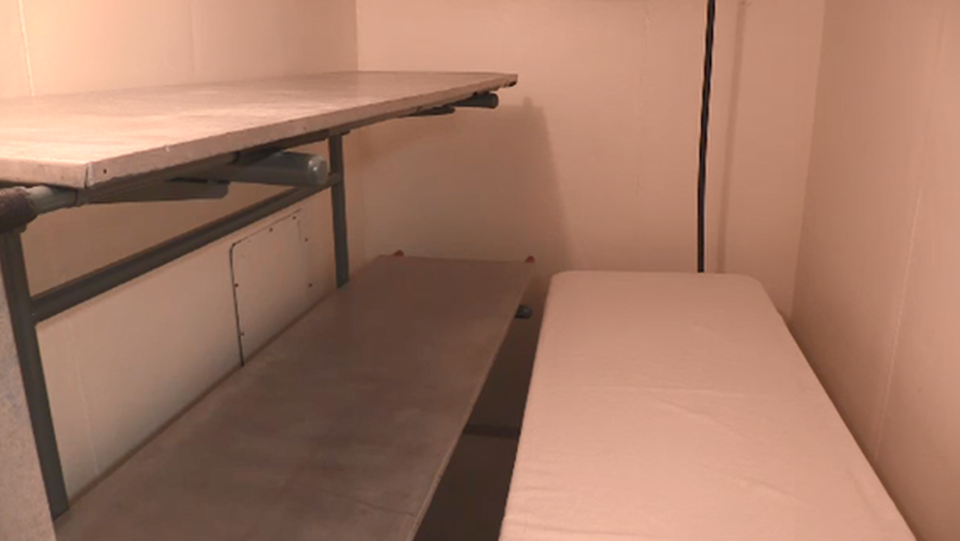 The 4-person Morgue at O'Neil Funeral Home London, Ont. on Wednesday, Jan. 6, 2021. (Brent Lale / CTV News)