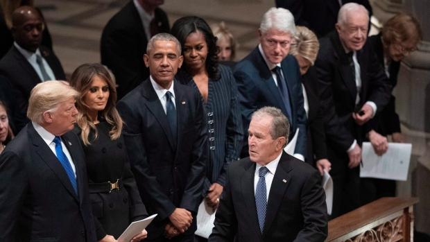 The four living former presidents deride U.S. Capitol breach in pointed statements
