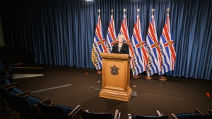 Dr. Bonnie Henry gives a live COVID-19 update in Victoria, B.C., on Dec. 29, 2020. (Province of BC/Flickr)