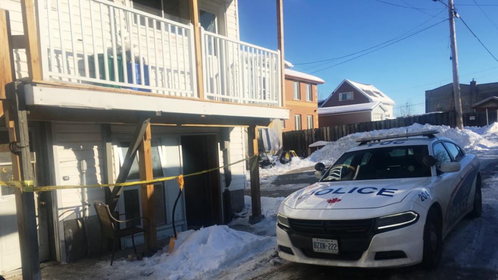 Sudbury police cordon off Flour Mill apartment