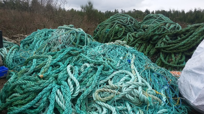 Fishing gear collected in 2020 from the Atlantic Ocean is shown in a handout photo from the Department of Fisheries and Oceans. THE CANADIAN PRESS/HO-DFO