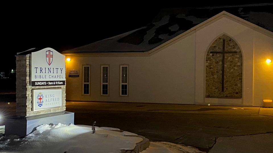 Trinity Bible Chapel in Woolwich Township (Terry Kelly / CTV News Kitchener)