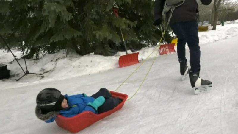 Echo Valley skating trail returns