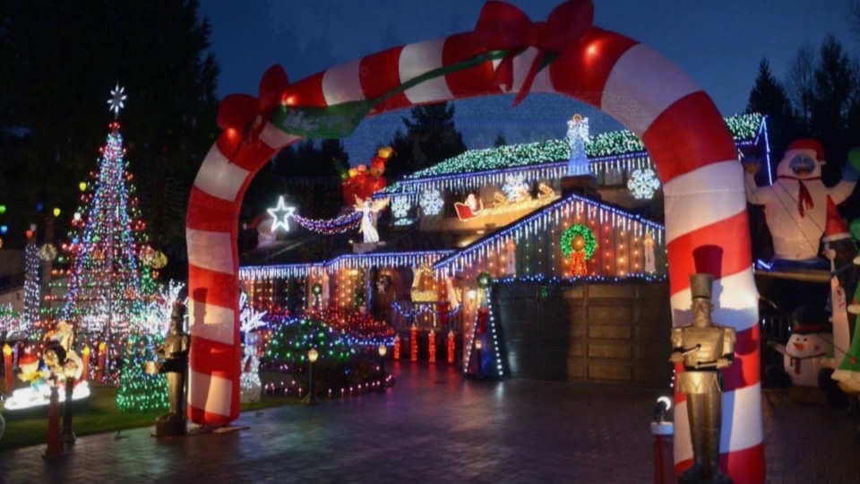 Joel DuPlessis's festive Christmas light display at his Burnaby, B.C. home gets more elaborate every year.