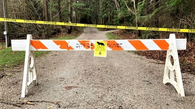 Trails have been closed after aggressive coyotes reportedly nipped at joggers. (BCCOS/Facebook)