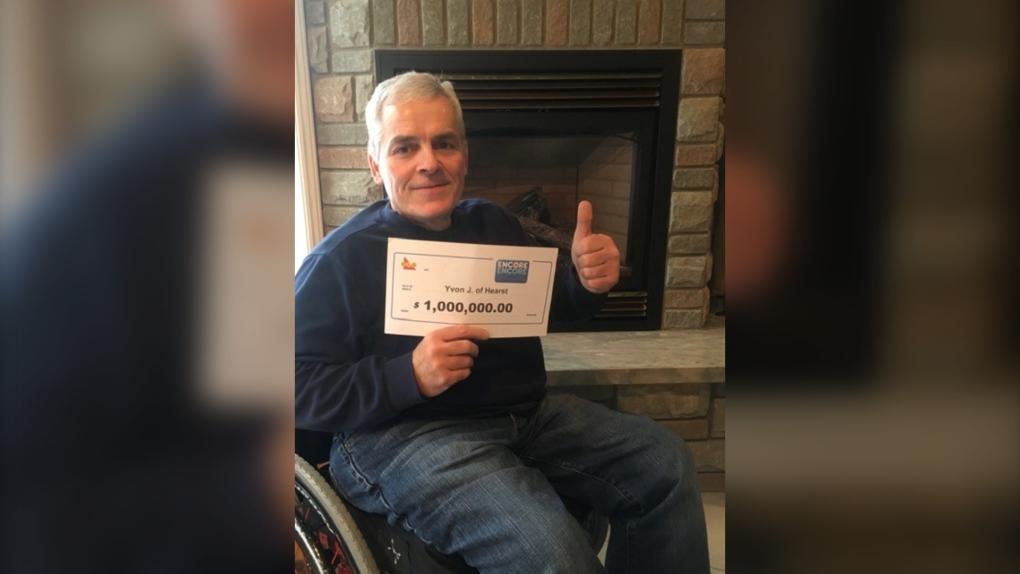 Yvon Jean, 59, won $1 million