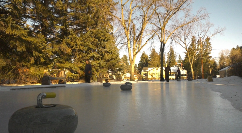 An Indian Head family has turned their backyard into a curling rink.