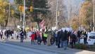 A file photo of an anti-lockdown protest in Kelowna, B.C. on Nov. 28, 2020 (Nicholas Johansen/Castanet News).