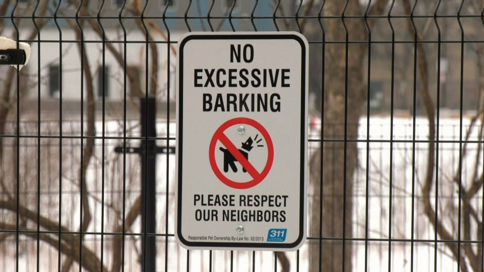 No barking sign put up at 'noisy' dog park