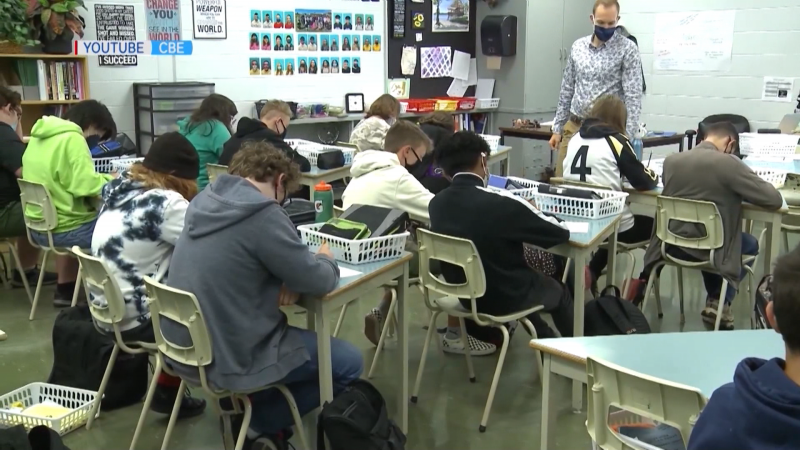 Students will be returning to class at schools throughout Alberta on Monday following a period of mandated at-home learning  (image: Calgary Board of Education/YouTube)