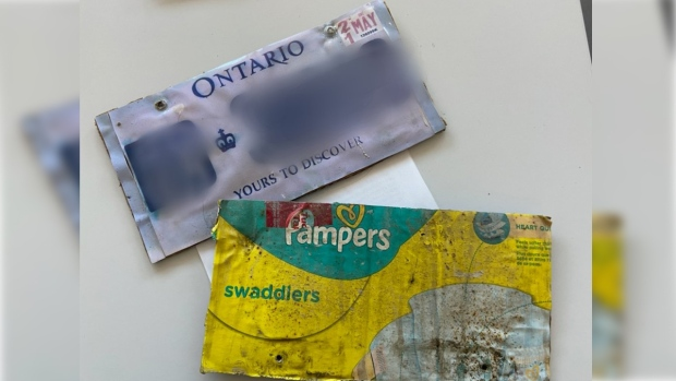 Police stop driver with licence plates made from diaper box