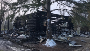 Ontario Provincial Police say four people are unaccounted for after a house fire near Oxford Mills. (Ontario Provincial Police)