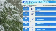 Mild temperatures and some flurries continue