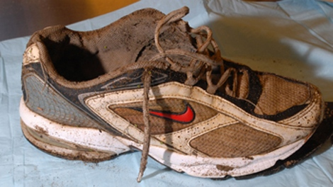 The RCMP and BC Coroners Service are investigating the remains of a right foot found on Oct. 27, 2009 on the beach at No. 6 Road and Triangle Road in Richmond. (RCMP)