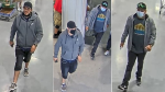 Ottawa police are asking for help identifying these men in connection with an investigation into fraudulent purchases in September, 2020. (Photos submitted by the Ottawa Police Service)