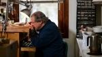 John Urban at work in his studio in Low, Que. (Joel Haslam / CTV)