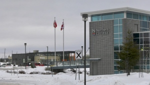 Northern College classes for 2021 have begun this week and while most of them will be taught online, there is some essential on-site learning and testing taking place. Jan. 11/21 (Lydia Chubak/CTV Northern Ontario)