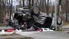 A major collision on the Brunette Avenue exit off Highway 1 on Dec. 27, 2020.