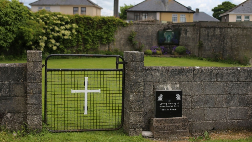 Mass grave site in Tuam, County Galway