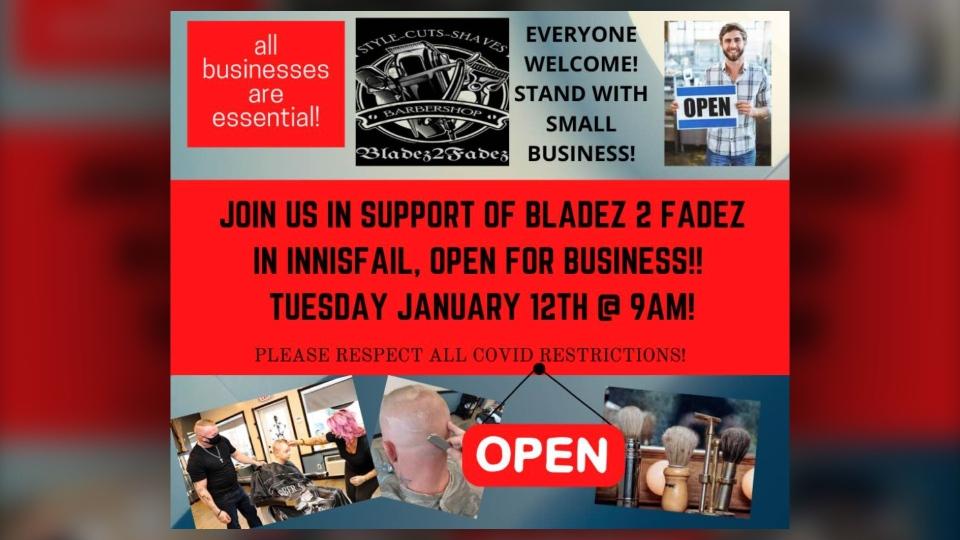 Bladez 2 Fadez, Innisfail, Alberta, barbershop,