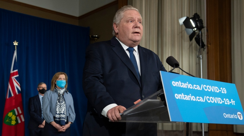 Ontario Premier Doug Ford has extended the state of emergency and stay-at-home order until at least the second week in February. (File)