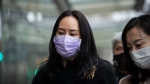 Meng Wanzhou, chief financial officer of Huawei, leaves B.C. Supreme Court during a break from a hearing, in Vancouver, on Tuesday, Jan.12, 2021. (Darryl Dyck / THE CANADIAN PRESS)