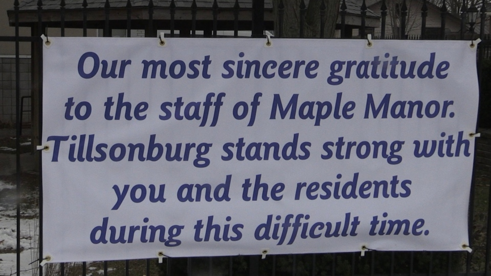 Sign at Maple Manor