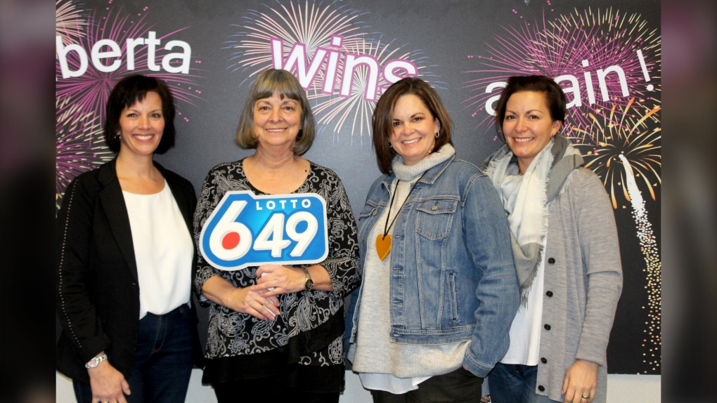 Calgary Lotto 6/49 win Shelly Myers