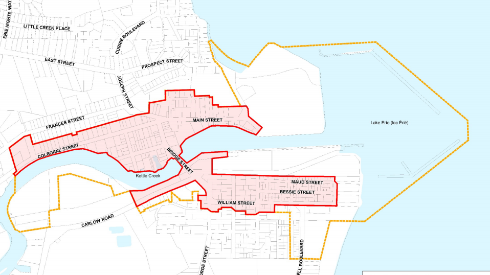 Heritage conservation district map