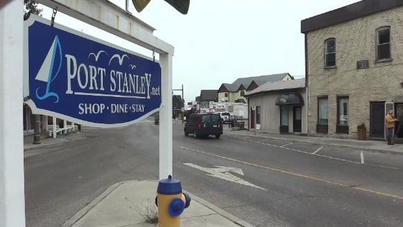 Port Stanley sign