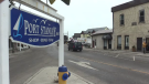 A Port Stanley sign is seen on Main Street in Port Stanley, Ont. (Brent Lale / CTV News)