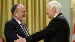 Governor General David Johnston invests Rabbi Reuven Bulka of Ottawa into the Order of Canada to during a ceremony at Rideau Hall in Ottawa on Wednesday, May 7, 2014. (Sean Kilpatrick/THE CANADIAN PRESS)