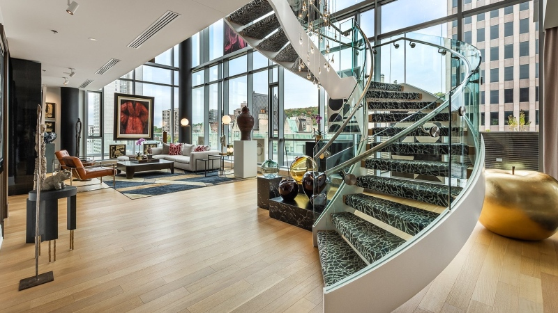 Going for $12.9 million, the sale of this downtown Montreal condo is the most expensive in Quebec history. (Photo: Sotheby's International Realty Canada)