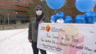 Rod Smith won $456,315 in the University Hospital's virtual Festival of Trees 50/50 raffle. Tuesday Jan. 12, 2021 (CTV News Edmonton)