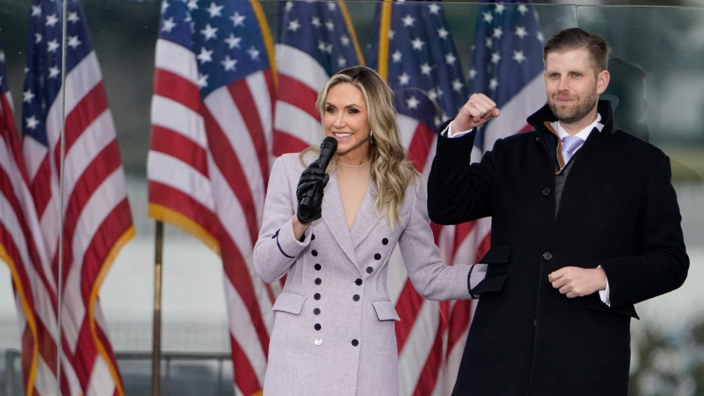 Lara and Eric Trump at the 'Save America Rally'