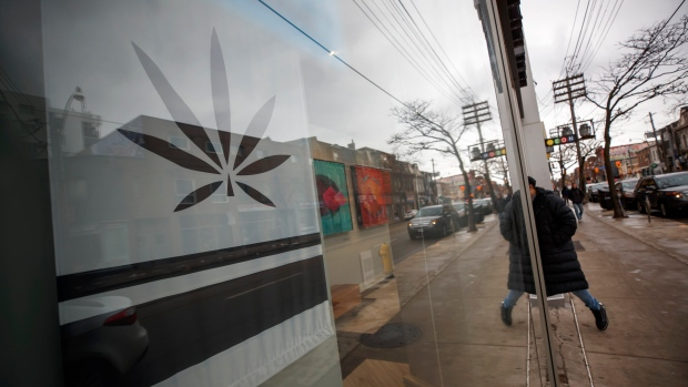 A customer walks into a Cannabis dispensary on Queen St. in Toronto, Monday, Jan. 6, 2020. THE CANADIAN PRESS/Cole Burston