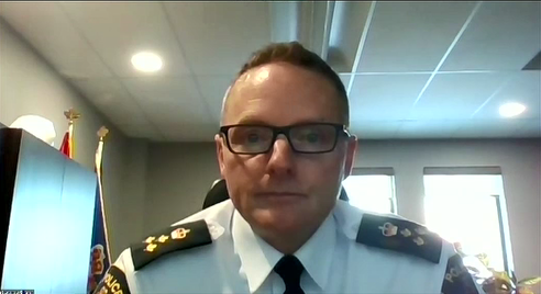 LPS Chief Steve Williams speaks to CTV News via Zoom Wednesday Jan. 13 (Brent Lale / CTV News)