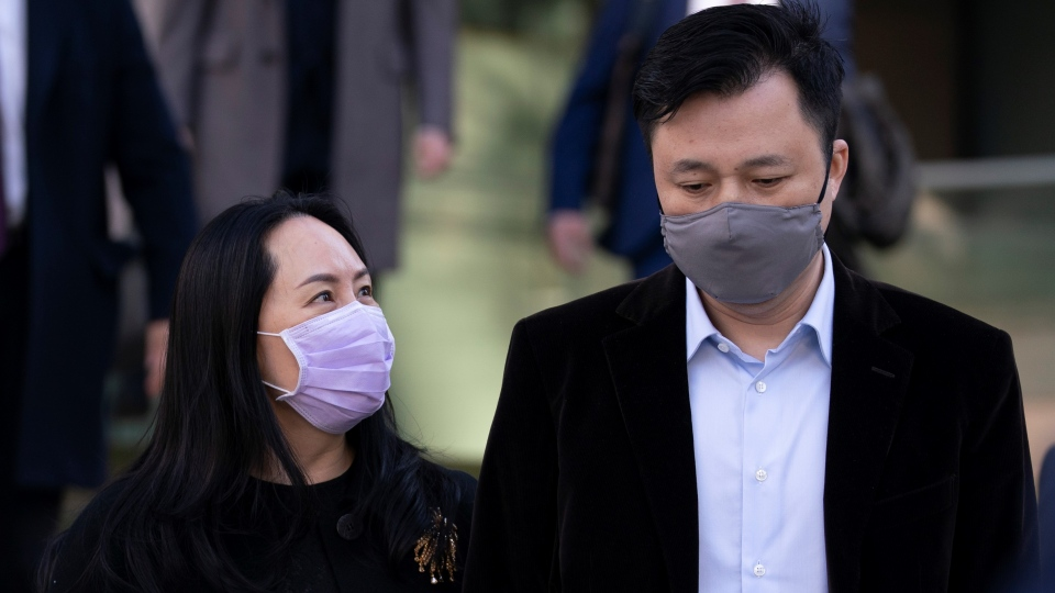 Meng Wanzhou and her husband, Liu Xiaozong,