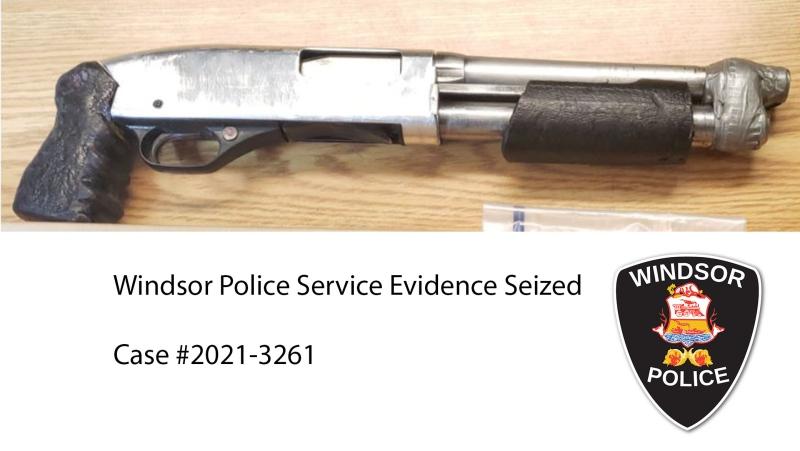 Seized firearm. (courtesy Windsor Police Service)