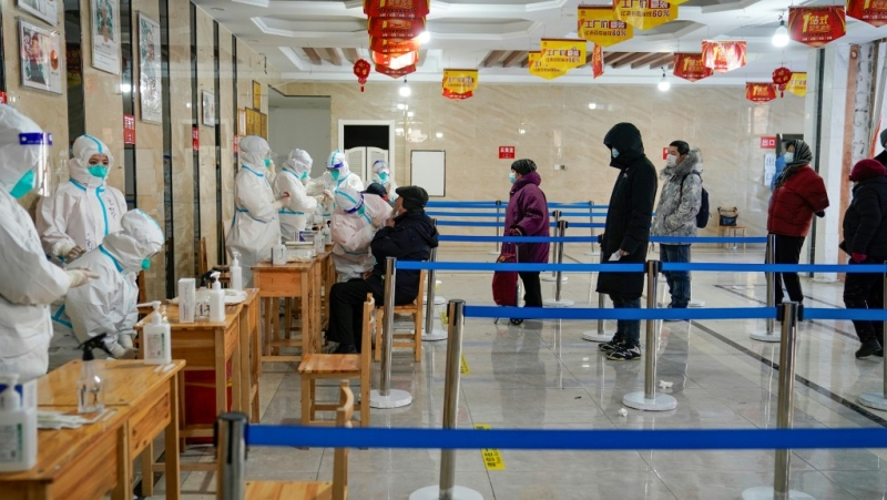 Millions of people have been locked down again in China in a fight to control a fresh coronavirus outbreak that has now claimed its first victim. (AFP)