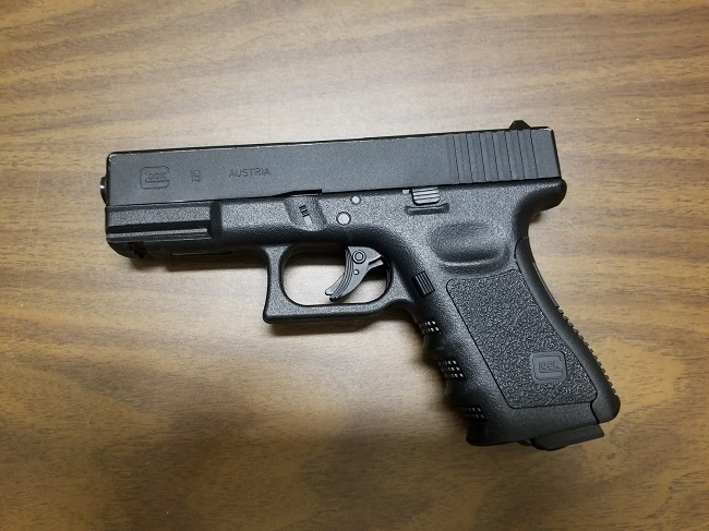 The replica handgun seized is shown: (West Shore RCMP)
