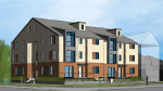 The city's planning committee approved a development proposal on Thursday for two three-storey buildings on a corner lot in Kanata's Katimavik neighbourhood. (MG4 Investments Inc.)