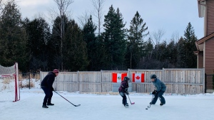 The Pretell family says their backyard rink has been a 'lifesaver' during COVID-19.