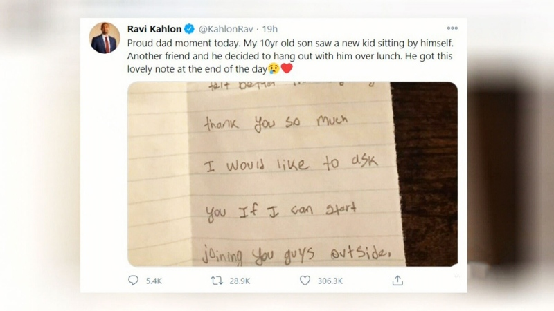 B.C. minister's Tweet about son goes viral