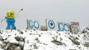 Winnipeg Jets fans showing their support